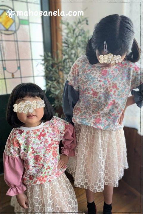 チュチュスカート,春スカート,型紙,姉妹お揃い