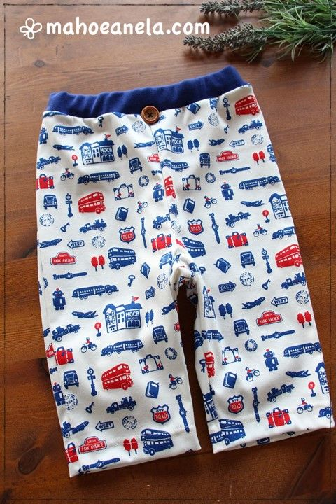 無料型紙,子供服,ダウンロード,パジャマズボン