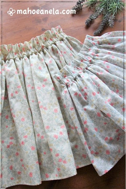 ミニスカート 型紙