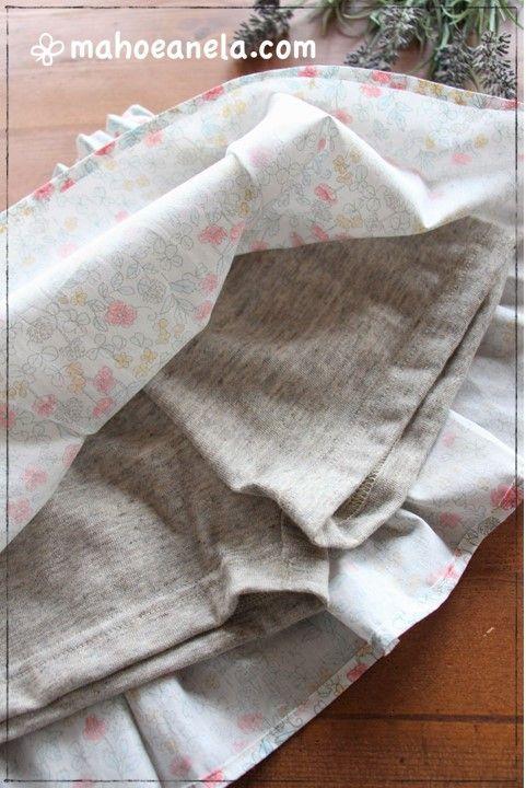インナーパンツ付き スカート 型紙