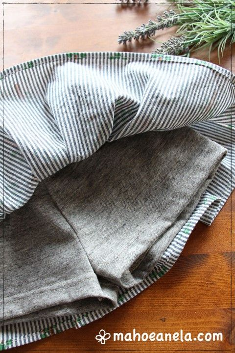 ボリュームミニスカート 型紙 インナーパンツ付きミニスカート