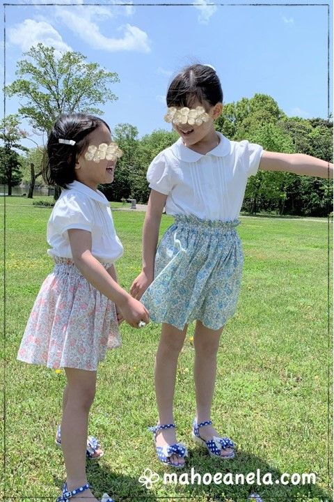 ボリュームミニスカートの姉妹お揃い着用画像