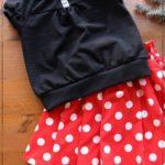 ラグラントップス ミニーコスプレ ミニードット 子供服 型紙 ジュニア 手作り ハンドメイド