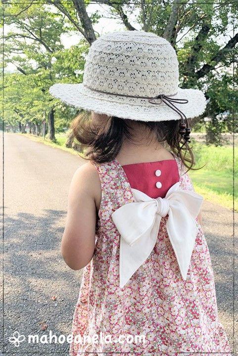 リゾートワンピース 子供服 型紙 姉妹お揃い ジュニア LIBERTY 手作り ハンドメイド