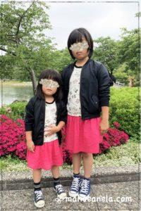 Tシャツワンピ 子供服 ジュニア 姉妹お揃い 型紙 手作り ハンドメイド