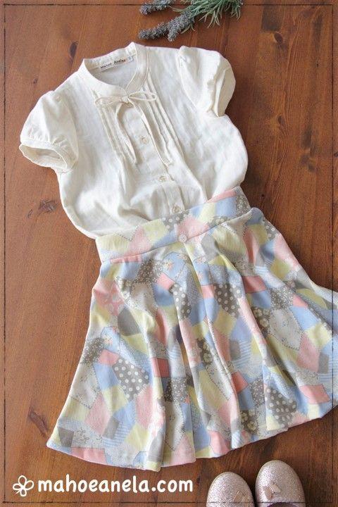 フレアースカート 子供服 親子お揃い 型紙 手作り ハンドメイド