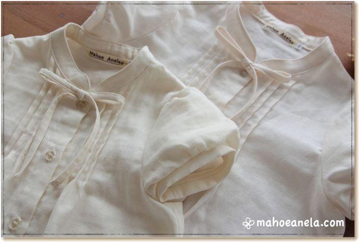 ブラウス ダブルガーゼ 姉妹お揃い 子供服 ジュニア 手作り 型紙