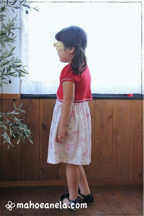ワンピース ボレロ 型紙 子供服 ハンドメイド 手作り