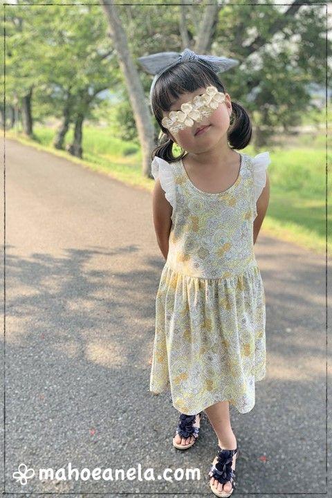 ワンピース 簡単 子供服 型紙 手作り ハンドメイド