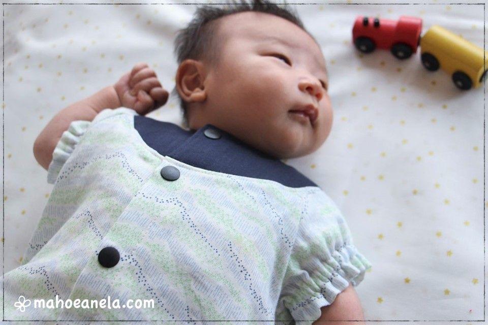 ダブルガーゼ 布帛 ツーウェイオール 赤ちゃん ベビー 型紙 手作り ハンドメイド