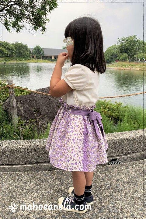 ミニスカート 子供服 型紙 手作り ハンドメイド 後リボン