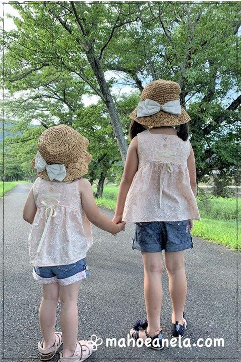 リゾートワンピース 子供服 ジュニア 姉妹ペア 型紙 手作り ハンドメイド
