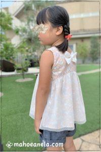 リゾートワンピース 子供服 ジュニア 型紙 手作り ハンドメイド