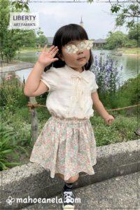 LIBERTY タナローン Kitty ミニスカート 型紙 手作り ハンドメイド