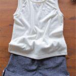 タンクトップ ショートパンツ 子供服 型紙 手作り ハンドメイド
