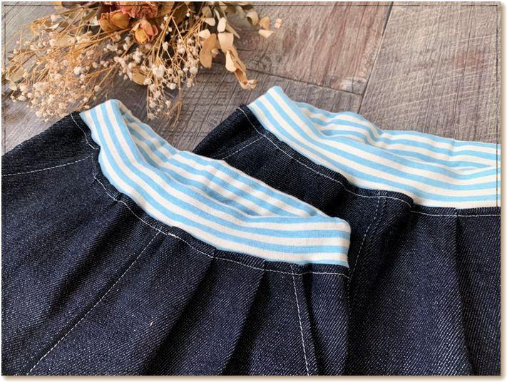 双子服,デニムパンツ,ハーフパンツ,手作り,子供服 型紙